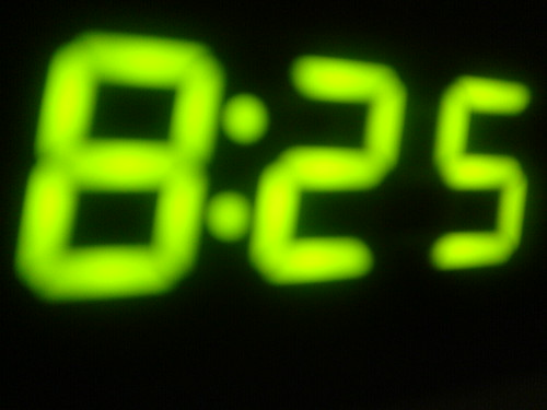 It's 8:25