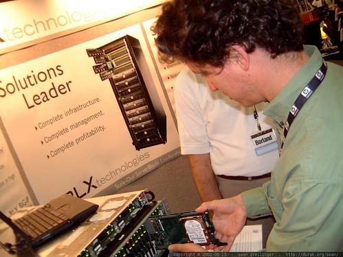 daniel with the rlx blade servers   dscf2277