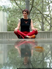 zen goddess reflecting on the granite table   dscf6111