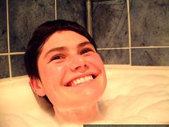bubble bathing rachel from the neck up   dscf7362