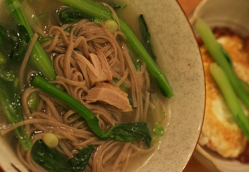 Buckwheat noodle in duck soup