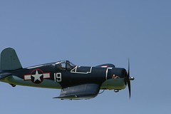 aviation, military aircraft, airplane, propeller driven aircraft, vehicle, vought f4u corsair, air show,