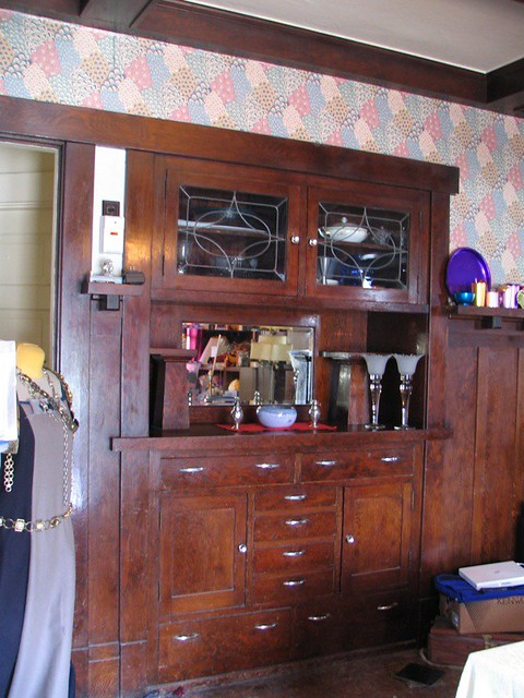 craftsman style built in sideboard clean flickr