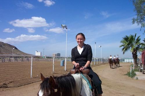 Meg and horse