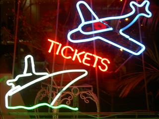 Travel agency tickets