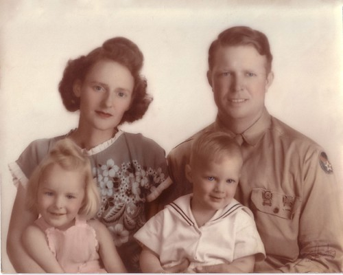 1944-Spring Isol Anne (Johnston) Busse, Louie McCoy, Beverly Sue, David Leigh Busse