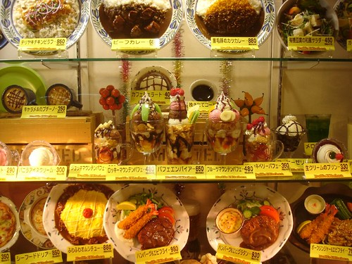 Wonderful plastic food display