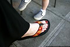 checkered vans, aloha sandals, pedicure    MG 4719