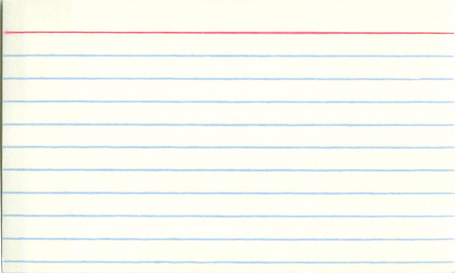 blank index card