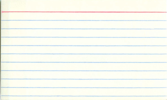 Blank index card! | Flickr - Photo Sharing!: www.flickr.com/photos/davegray/147874576