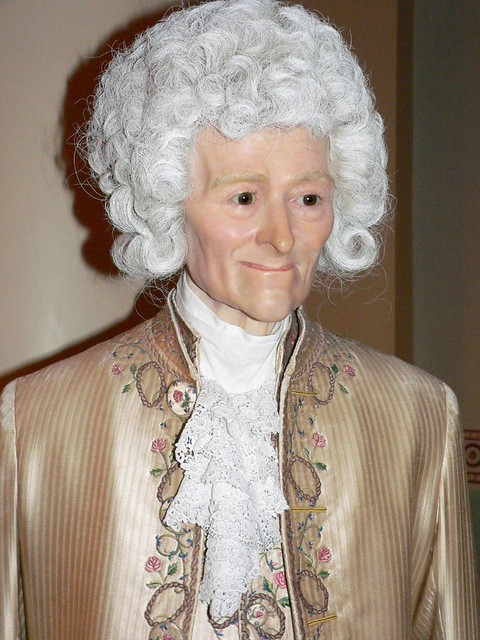 Voltaire at Madame Tussauds in London