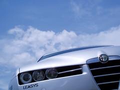 wheel(0.0), automobile(1.0), automotive exterior(1.0), alfa romeo(1.0), vehicle(1.0), automotive design(1.0), alfa romeo 159(1.0), bumper(1.0), land vehicle(1.0), luxury vehicle(1.0),
