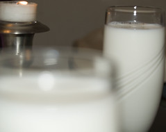 candle, white, milk, dairy product, drink,