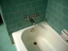Blue Bathroom Tub Faucet
