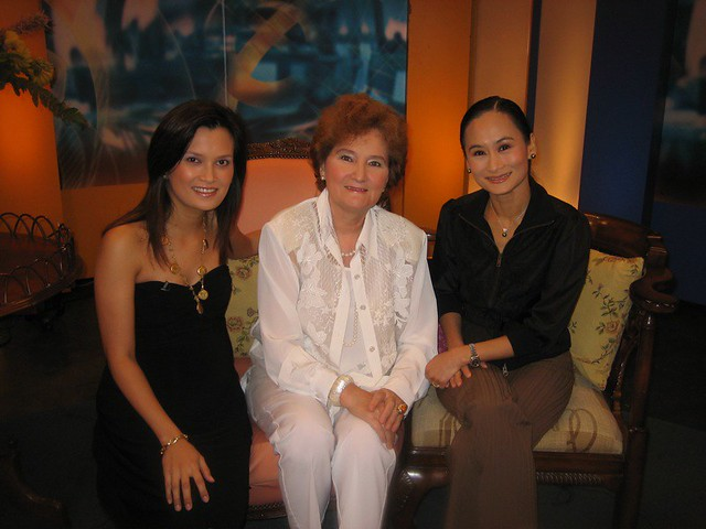 Wife of Russian Ambassador to Philippines and Lisa Macuja-Elizalde (Ballet Manila)