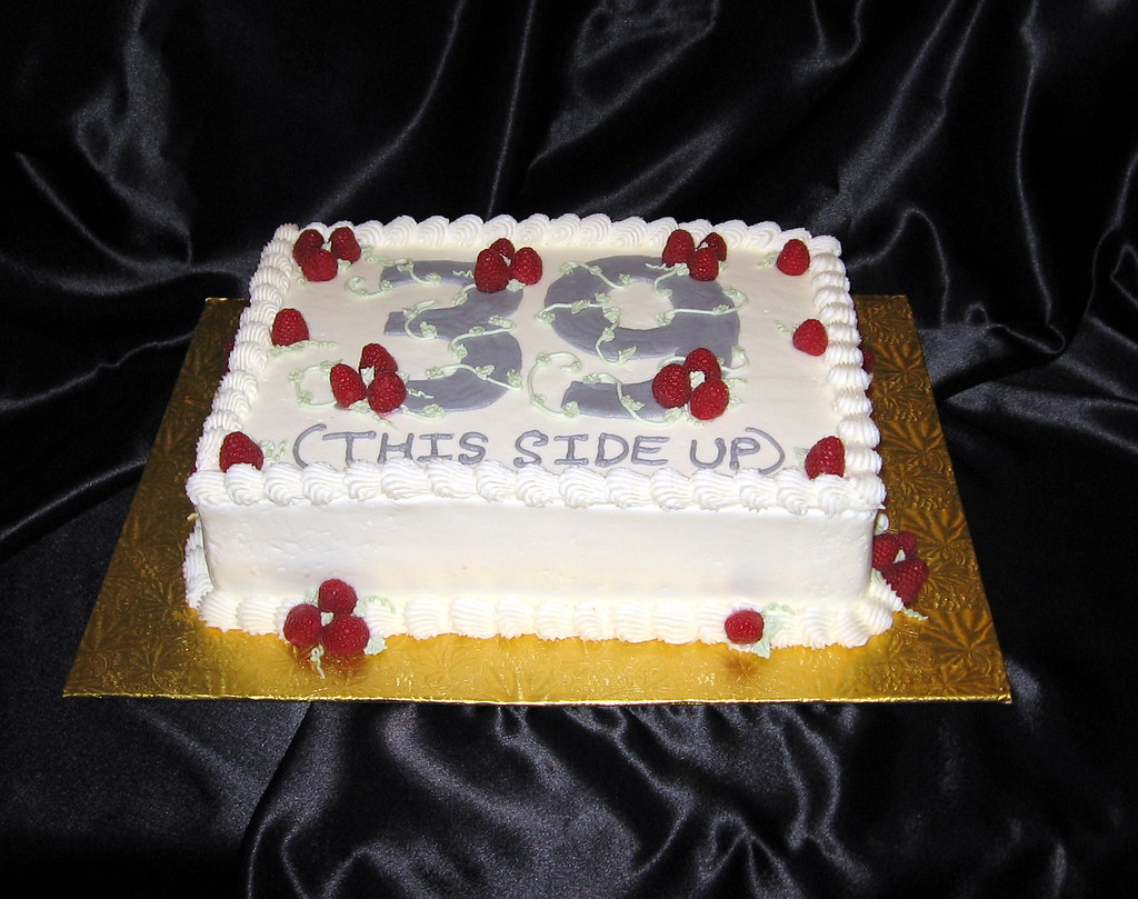 Special 39th Birthday Cake