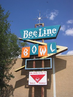 Bee Line Bowl full neon sign