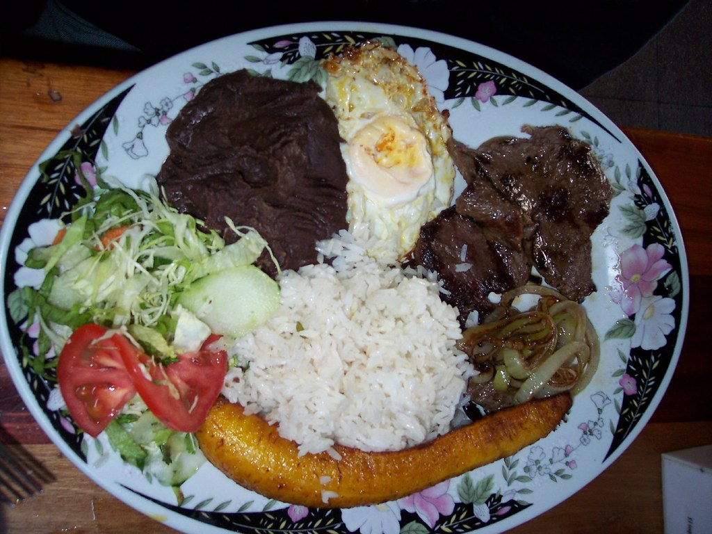 "Typical Costa Rican Food Called A ""Casado"" 