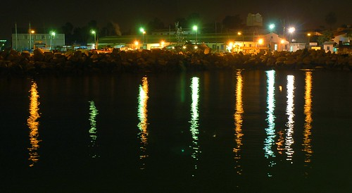 beautiful lights on the old port of Limassol