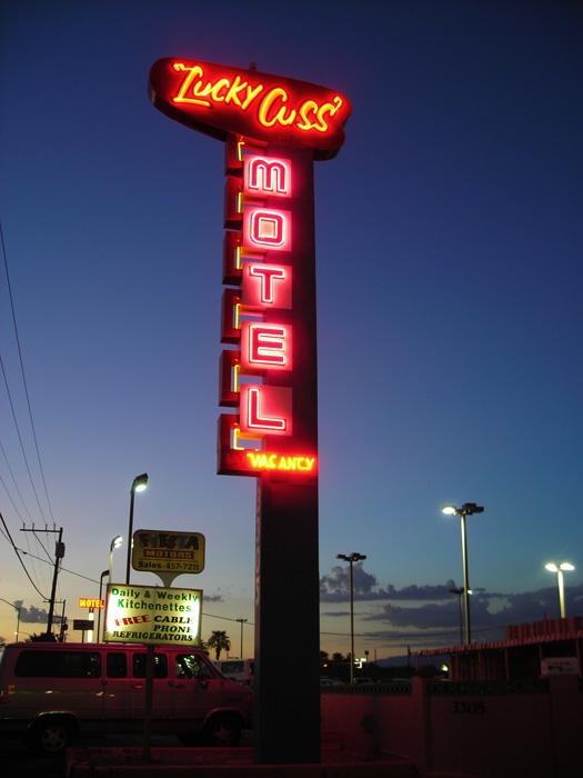 Lucky Cuss Motel - Las Vegas, Nevada U.S.A. - August 23, 2006