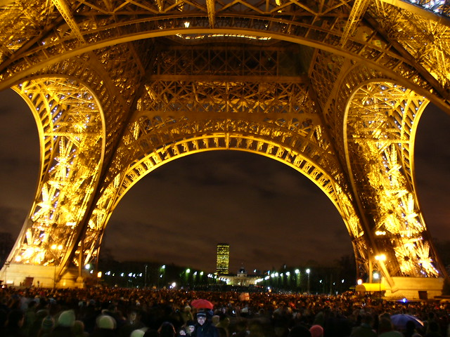 New Year's Eve under the Tour Eiffel