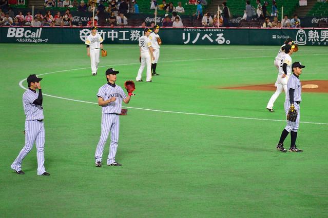 T_試合前キャッチボール(俊介・大和・柴田)