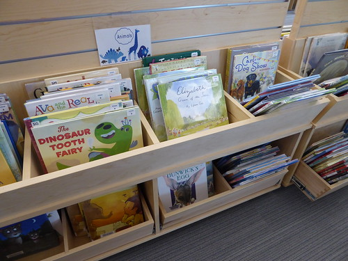 shelving - children's space - Koelbel Library
