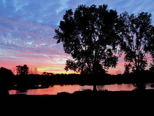 ohio june clouds sunrise ashland mudlake baileylakes
