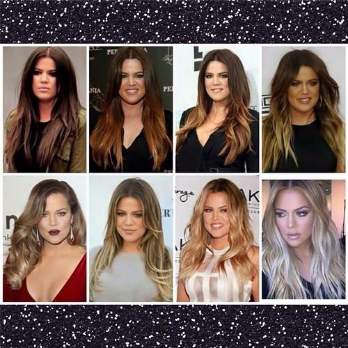 Khloe Kardashian Hair Transformation – Brown to Platinum Blonde