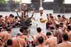 Blessing. Bénédiction      Kecak ceremony Bali 2015