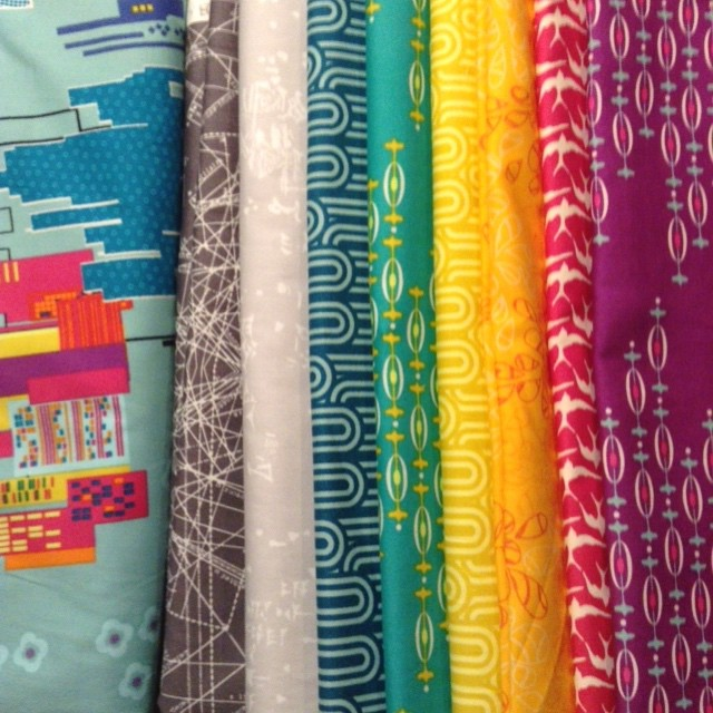Just a wee bit excited to start playing with these fabulous fabrics! @fatquartershop @artgalleryfabrics