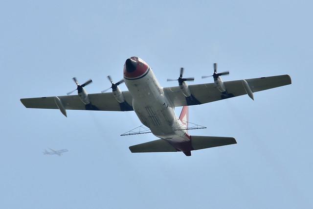 N121TG C-130A (Training) + G-FBJI ERJ-175 southbound