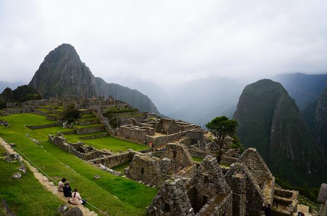 Panorámica de acceso a Machu Picchu