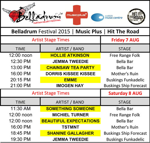Music Plus and Hit The Road artists perform at Belladrum Tartan Heart Festival 2015