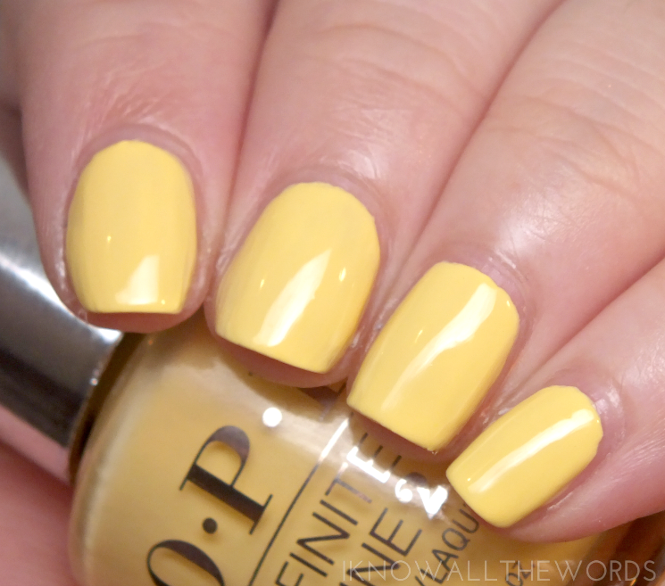 OPI infinite shine summer 2015 bee mine forever