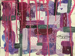5 Layered Abstract in Pink and Purple