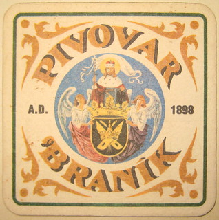 Braník brewery beermat, early 1970s