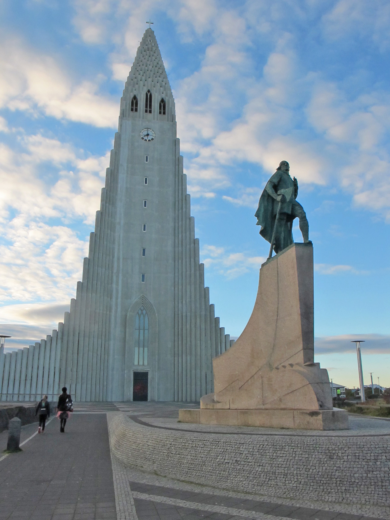 Leif Erikson Monument In Front Of Reykjavik Church