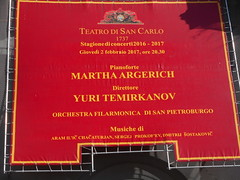 Martha Argerich at Royal San Carlo Theatre in Naples - February 2, 2017
