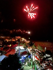 'Overseas Adventure Travel', 'Route of the Mayas', fireworks, hotel roof, New Year's Eve, Radisson  Fort George Hotel