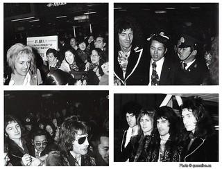 Queen @ Tokyo airport - 1976