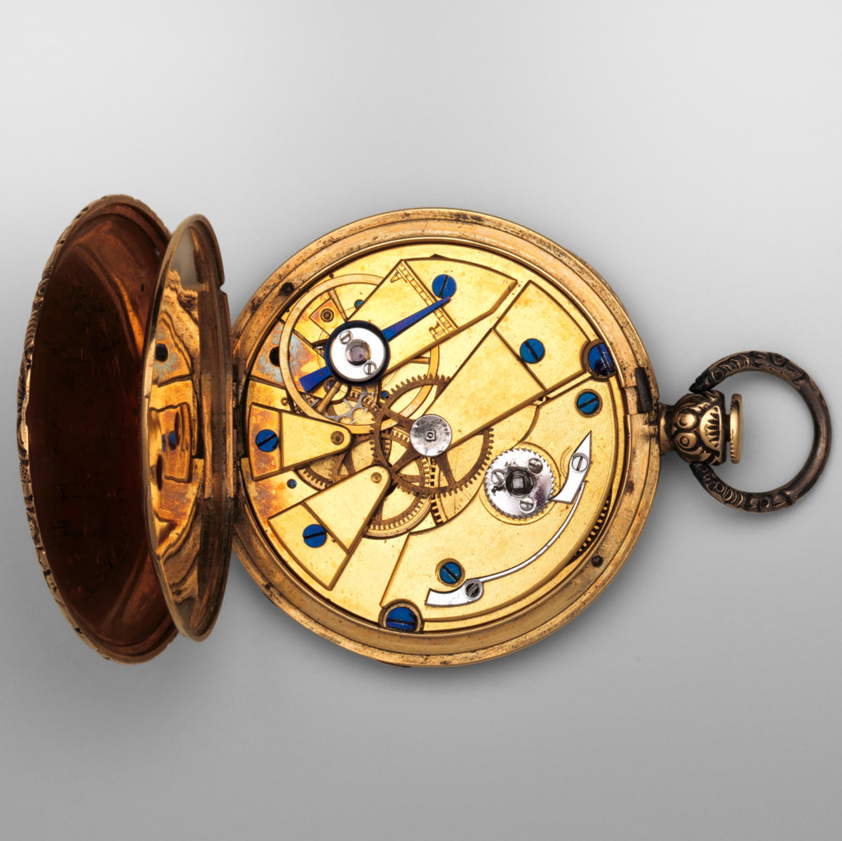 1832. Watch. Swiss, Geneva. Case partly gold, enamel, and silver; Movement brass and steel with ruby. metmuseum