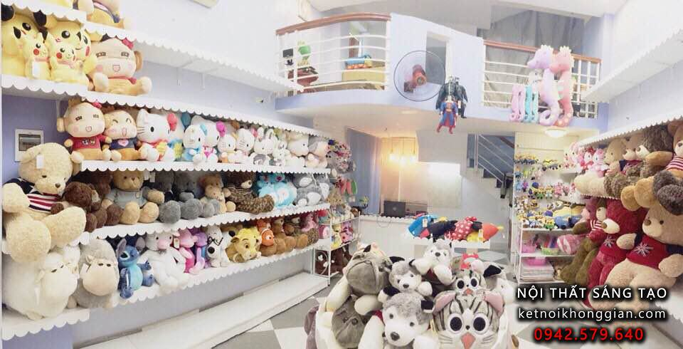 Cửa hàng shop gấu bông đẹp lung linh khi trưng bày sản phẩm
