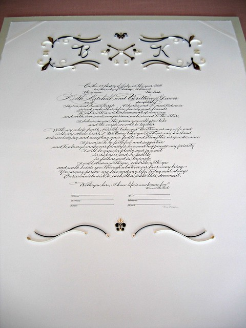 Ketubah by Ann Martin of All Things Paper