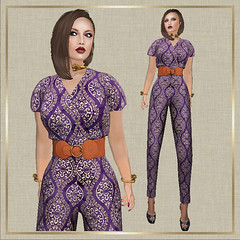 Moroccan and Retro Dots Jumpsuit. So very chic and elegant
