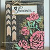 Plastic paper card #therubbercafe #ssswchallenge #rangerinks  #dcwv #peerlesswatercolors -- http://thoughtsinlc.blogspot.com/2015/07/roses-on-plastic-forever-card.html via http://bit.ly/picasa_tool