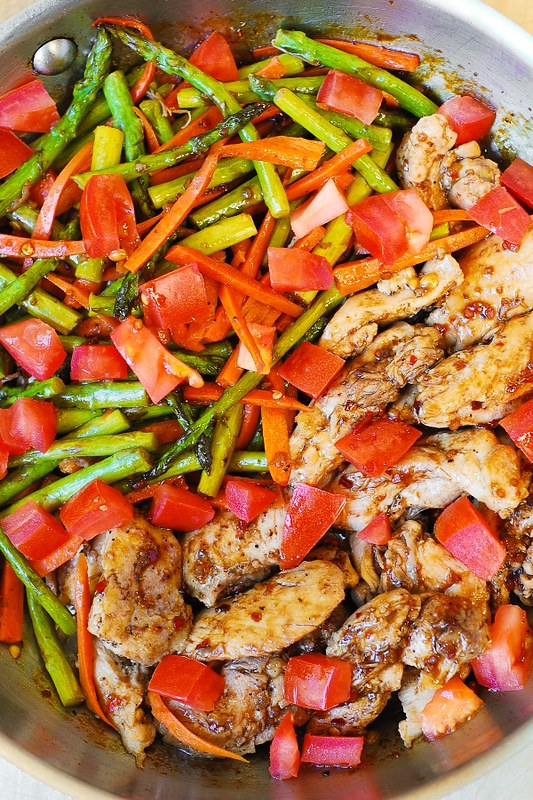Low fat chicken recipes with asparagus