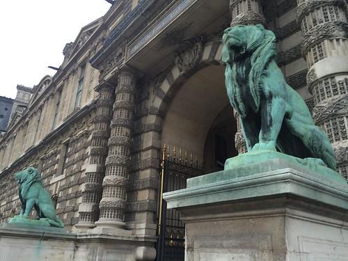 Bronze Lions, Musée du Louvre, Paris, France