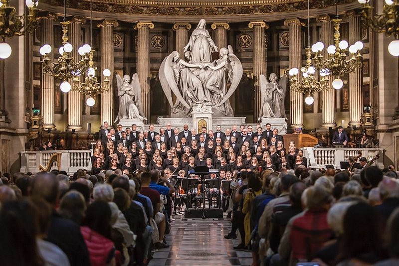Colorado Symphony Chorus performs in La Madeleine in Paris