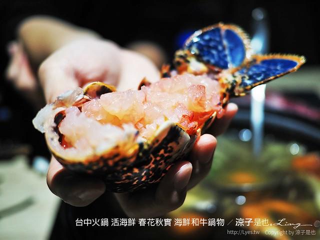 台中火鍋 活海鮮 春花秋實 海鮮和牛鍋物 100